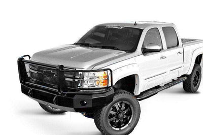 Iron Cross 2011-2014 Chevrolet Silverado 2500/3500 Winch Front Bumper With Grille Guard 24-525-11-BumperStock