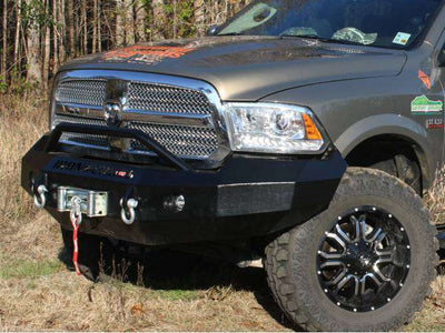 Iron Cross 2013-2018 Dodge Ram 1500 Winch Front Bumper With Push Bar 22-615-13-BumperStock