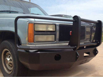 Iron Cross 81-87 Chevrolet Silverado 1500/2500/3500 Winch Front Bumper With Grille Guard 24-515-81-BumperStock