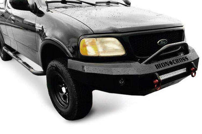Iron Cross 92-96 FORD F150/F250/F350 Winch Front Bumper With Push Bar 22-415-92-BumperStock