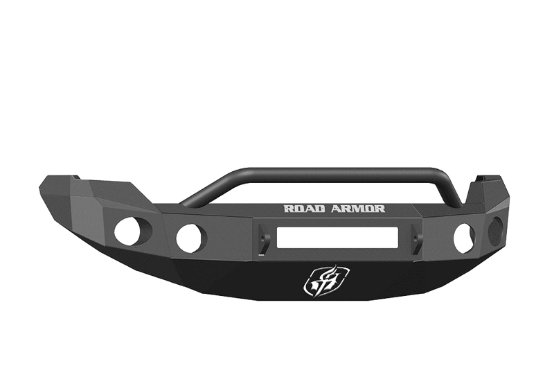 Road Armor 66134B-NW 2009-2014 Ford F150 Non-Winch Front Bumper with Pre-Runner Guard and Round Light Holes - Satin Black-BumperStock