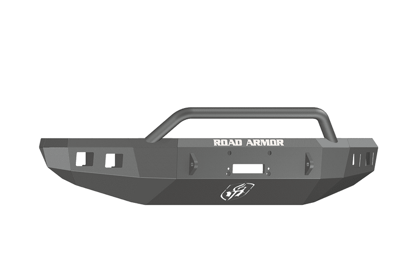 Road Armor 914R4B 2014-2021 Toyota Tundra Winch Front Bumper with Pre-Runner Guard and Square Light Holes - Satin Black-BumperStock