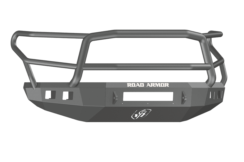 Road Armor 914R5B-NW 2014-2021 Toyota Tundra Non-Winch Front Bumper with Lonestar Guard and Square Light Holes - Satin Black-BumperStock