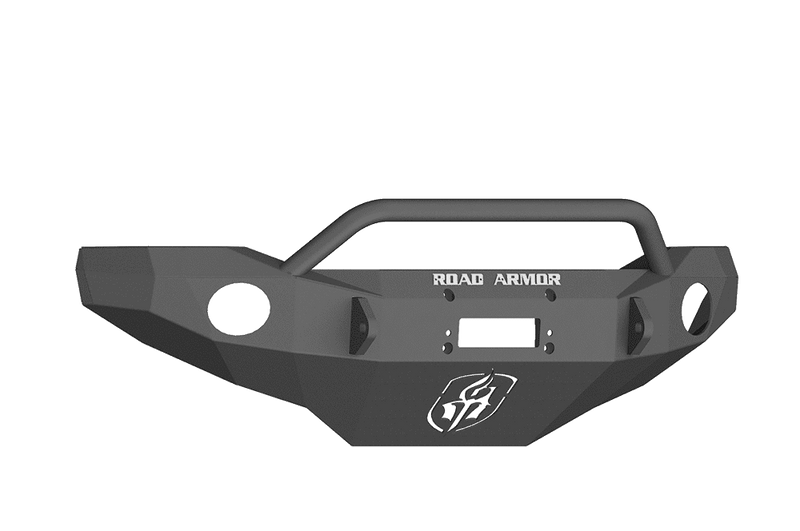 Road Armor FJ802B 2006-2018 Toyota FJ Cruiser Winch Front Bumper with Pre-Runner Guard and Round Light Holes - Satin Black-BumperStock
