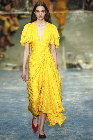 Carolina Herrera Yellow Dress