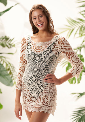coco backless beach cover up