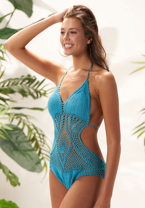 travesuras crochet one piece swimsuit