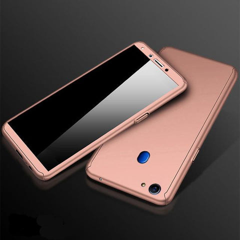 360 Full Protection Case for OPPO with Clear Glass Film