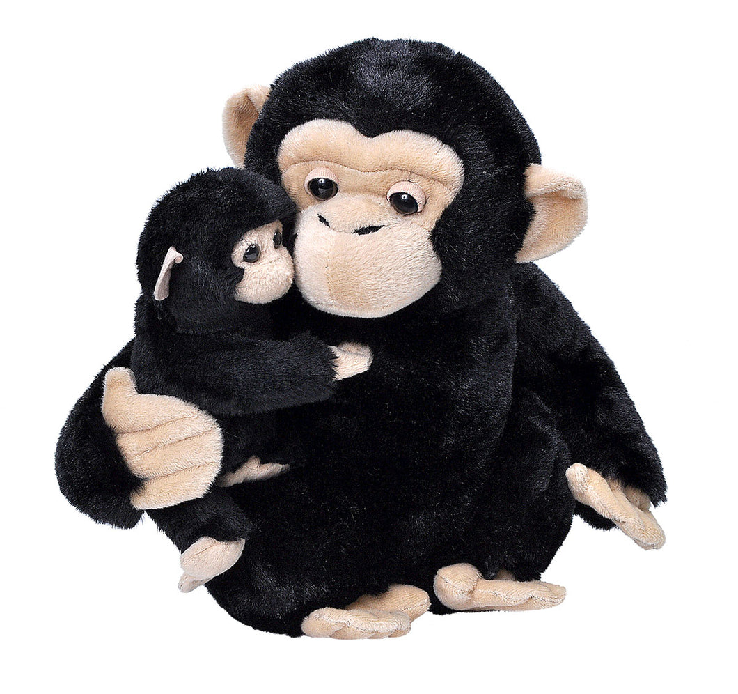 Wild Republic Mom And Baby Chimp 30cm Plush