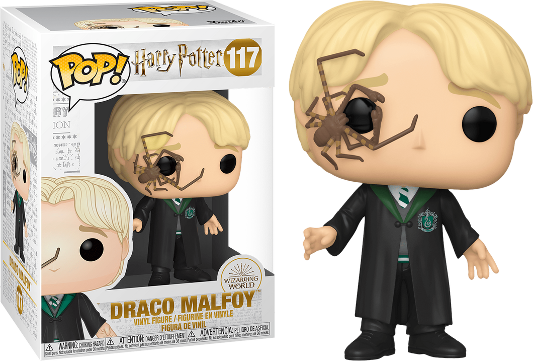 Harry Potter Draco Malfoy with Whip Spider Pop Vinyl! 117