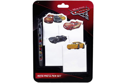 Cars Stationery Note Pad & Pen Set