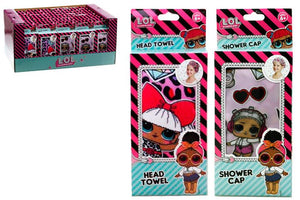 LOL Head Towel & Shower Cap assorted
