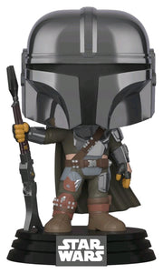 Star Wars: The Mandalorian (Mandalorian Chrome) US Exclusive Pop Vinyl! 345
