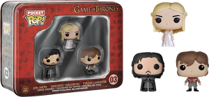Game of Thrones - Jon Snow, Tyrion & Daenerys Pocket Pop 3-Pack Tin