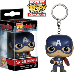 Avengers 2 Age of Ultron Captain America Pocket Pop Keychain