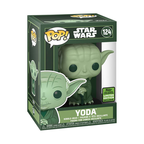 Star Wars - Yoda Green ECCC 2021 US Exclusive Pop Vinyl! 124