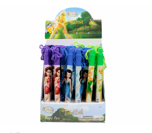 Tinkerbell Retractable Pen With Rope