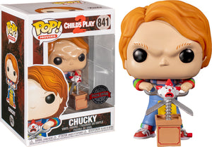 Child's Play 2 Chucky with Buddy & Scissors US Exclusive Pop Vinyl! 841