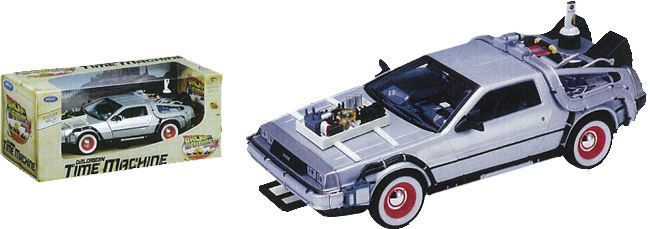 Back to the Future Part III - 1:24 Scale Die-Cast DeLorean Replica