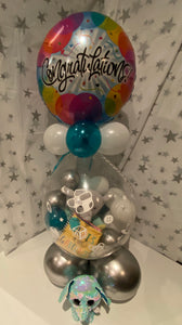 Congratulations Balloon filled with gifts