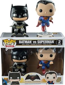 Batman v Superman Dawn of Justice - Metallic US Exclusive Pop Vinyl! 2-Pack
