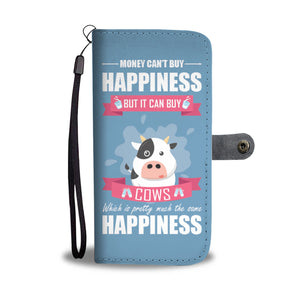 Cow Happiness Wallet Phone Case