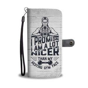 Resting Gym Face Wallet Phone Case