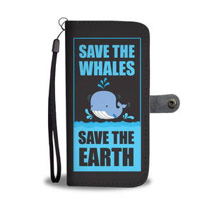 Save The Whales Wallet Phone Case