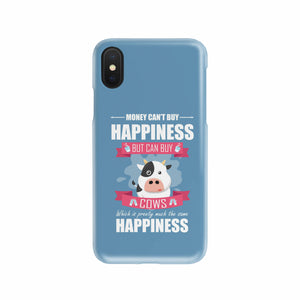Cows Bring Me Happiness Mobile Phone Case