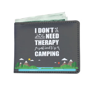 I Don't Need Therapy Camping Men's Wallet
