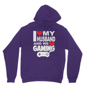 I Love My Husband and Gaming Classic Adult Hoodie