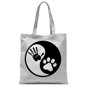 Ying Yang Dog Classic Sublimation Tote Bag