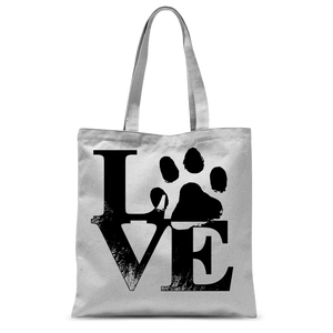 Dog Love Classic Sublimation Tote Bag