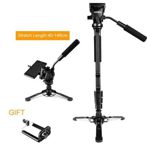Camera Monopod + Fluid Pan Head + Unipod Holder