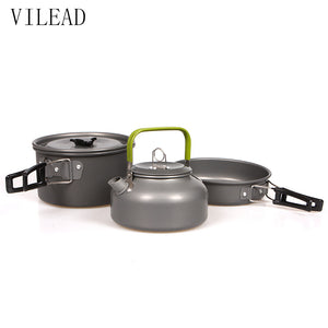 Camping Pot Pan and Kettle Cookware Set