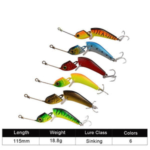 6 Wobbler Fishing Lures