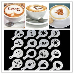 16pc Coffee Stencils with Chocolate Shaker