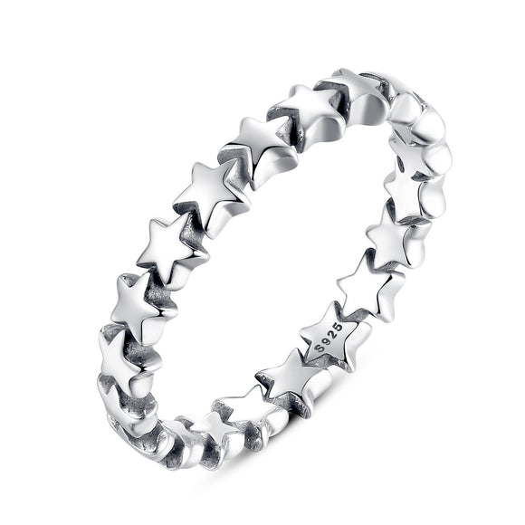 925 Sterling Silver Starfish Style Stackable Finger Ring For Women Wedding Size 7-8 pa7151