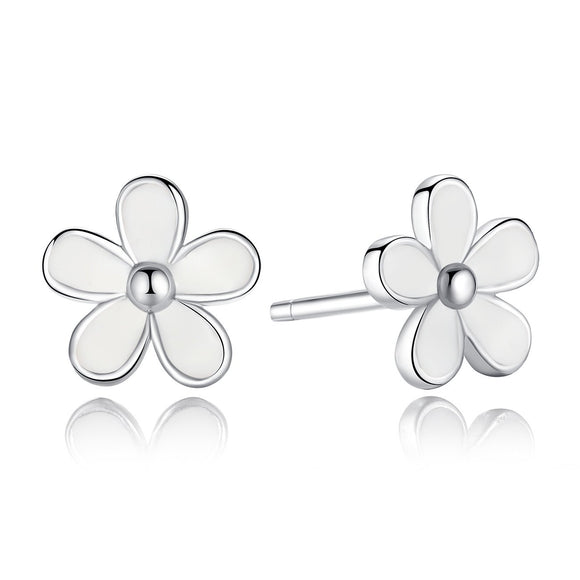 925 Sterling Silver Darling Daisies Stud Earrings For Woman PAS409
