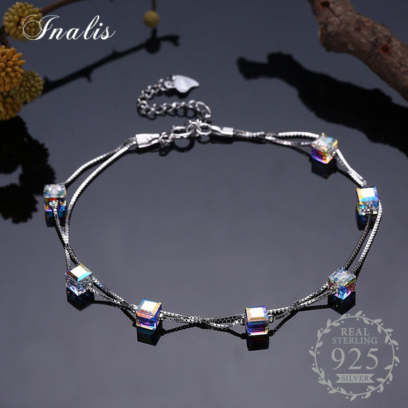 Multi-crystal Bracelets for Women Romantic Elegant Fine Jewelry 2018 New Gift SVH175