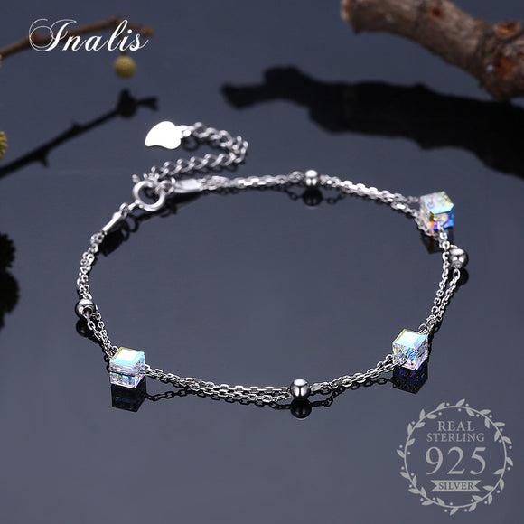 Cube Crystal Bracelets Bangles Luxury Fine Jewelry for Women Authentic Original Gift SVH181