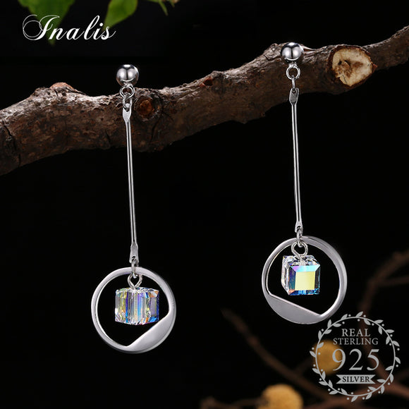 Discolor Round Drop Earrings Dangle Earrings for Women Romantic Jewelry Party
