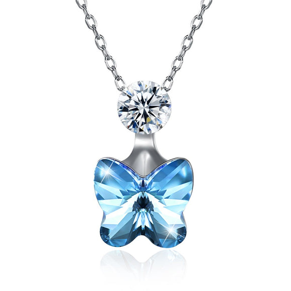 Butterfly Pendant Necklaces for Beatiful Women Girls Jewelry SVN292