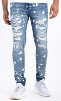 SYRACUSE DENIM-RIPPED/DISTRESSED/SPLATTER