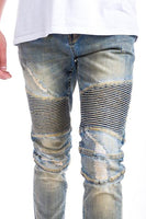 ROME DENIM-BIKER/SLIM/STRETCHY