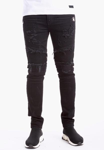 VENICE DENIM-BIKER/SLIM/STRETCHY