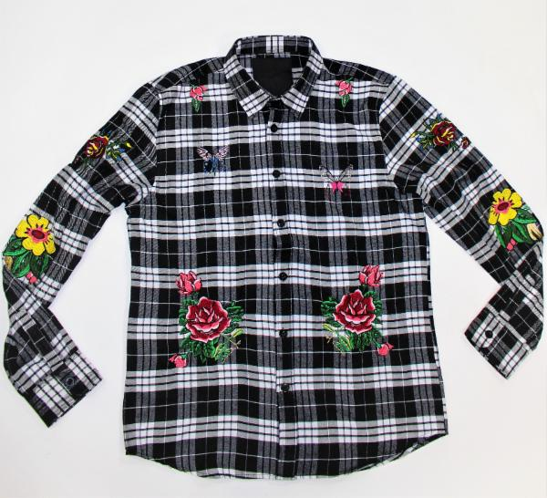 DMT H068 BLACK CASUAL SHIRT