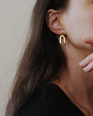 Gold Vermeil Arch Earrings