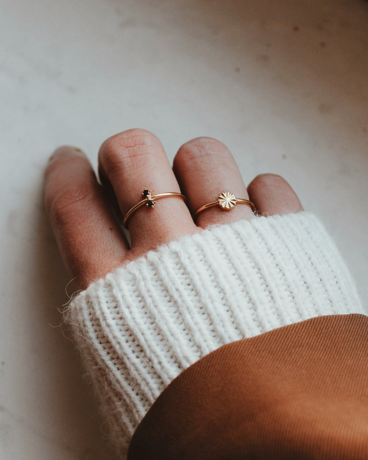 Gold Vermeil Geometric Disc Ring