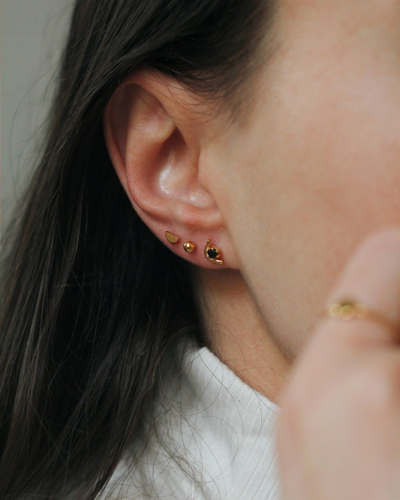 Gold Vermeil Tiny Ball Studs